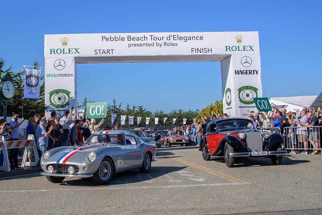 The start of the Pebble Beach Tour d'Elegance