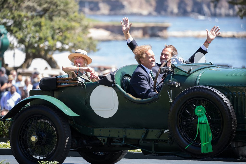 Crossing the ramp at the Pebble Beach Concours d'Elegance